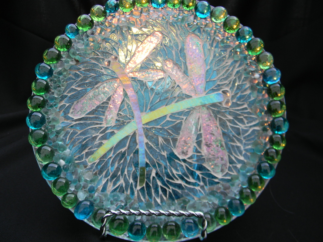 Decorative Glass Plates Art